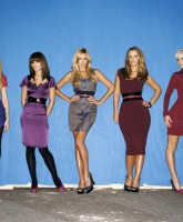Girls Aloud in loud places, clothes