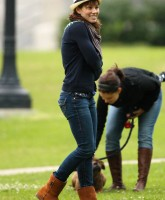 Jessica Biel filming a movie