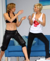 Sarah Harding, Nell McAndrew fit and buff