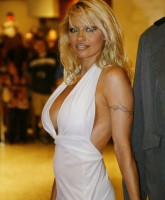 Pamela Anderson at the White House