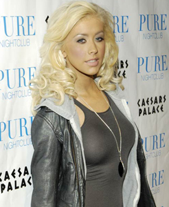 Christina Aguilera wears sexy tight dresses