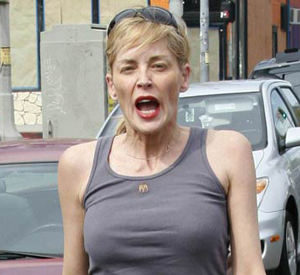 Sharon Stone Went Crazy   Damn Paparazzi!