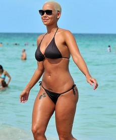 Amber Rose In Black Bikini