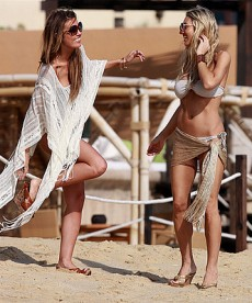 Leggy Audrina Patridge Hits The Beach With A Friend