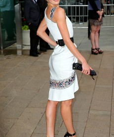 Candice Swanepoel Hits The Fashion Awards In NYC