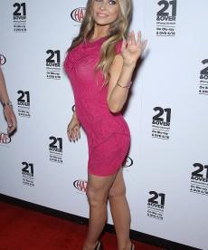 Carmen Electra Is Pretty In Pink … Or Maybe Purple?