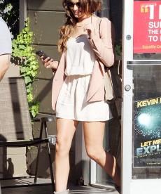 Cheryl Cole And Her Killer Legs Leaving A Salon In LA