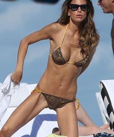 Claudia Galanti Partial Nip Slip In Miami.