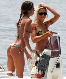 Elisabetta Canalis In Butt Bearing Bikini