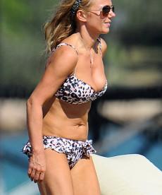 Recent Geri Halliwell Bikini Pics From Italy