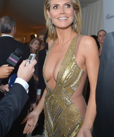 Heidi Klum Shows A Lot Of Skin At Elton John's Oscar Party