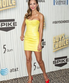 Jessica Alba In A Sexy, Body Hugging Dress