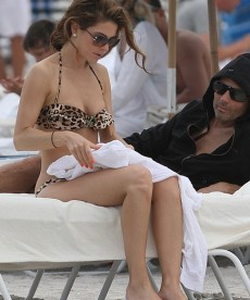 Maria Menounos Relaxing In A Bikini