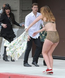 Sexy Mischa Barton Filming A Video In LA