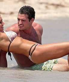 Rachel Uchitel On The Beach