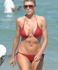 51yr Old Rita Rusic Rocks A Red Bikini