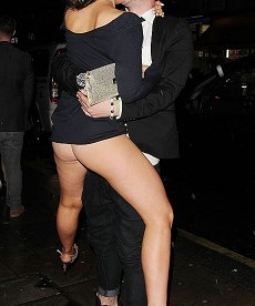 Stephanie Davis Bares Her Ass In London