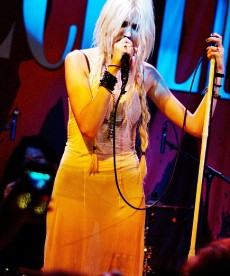 Taylor Momsen In See Through Dress