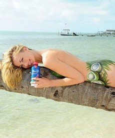 Yvonne Strahovski In Sexy New SoBe Ad
